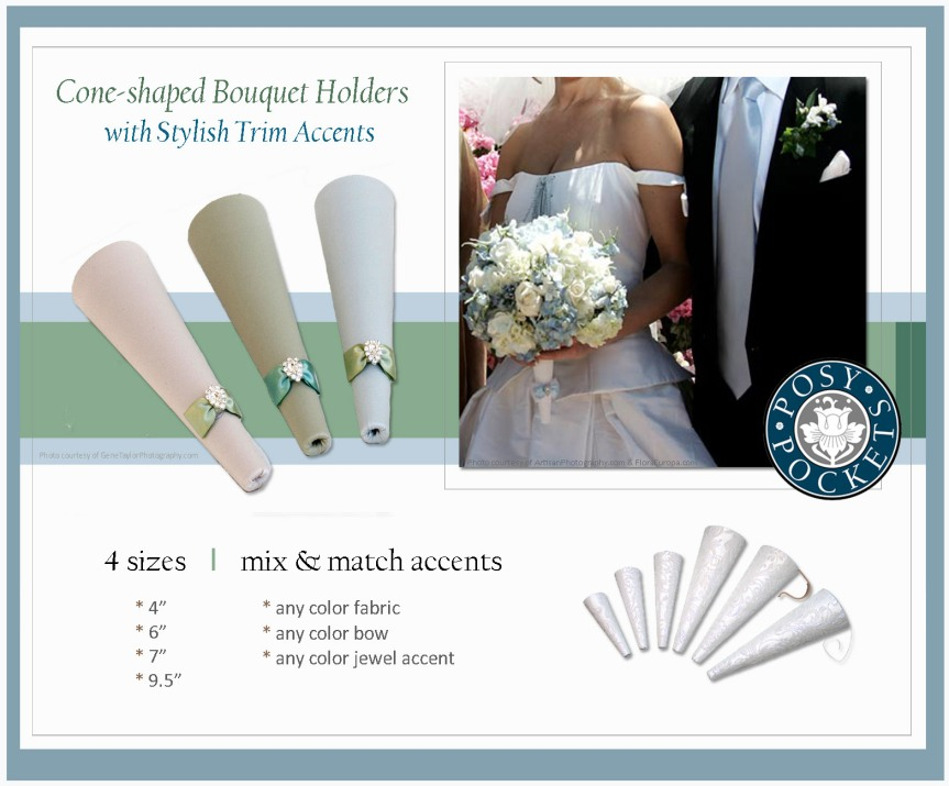 #PosyPocket® Bouquet Holders Styled with #CoordinatingAccents!