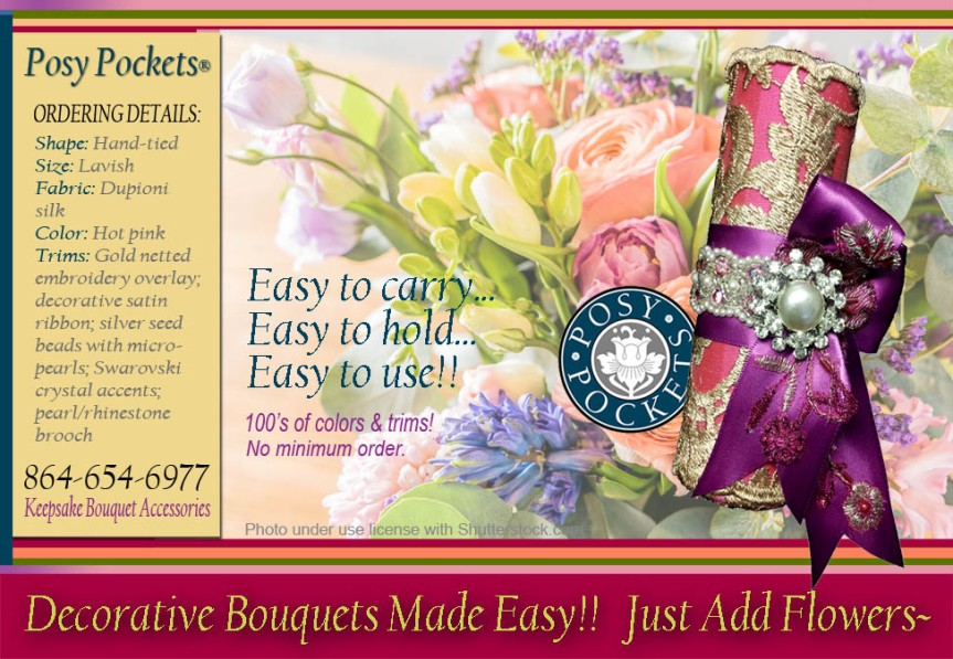 Lavish #Hand-tied Bouquet Holder from PosyPockets®