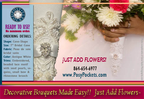 Decorative Bouquet Holders from PosyPockets®